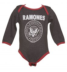 Kids Charcoal And Red Ramones Logo Babygrow from Amplified Kids [View details]