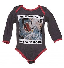 Kids Charcoal And Red Wanna Be Adored Stone Roses Babygrow from Amplified Kids [View details]