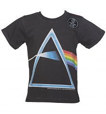 Kids Charcoal Pink Floyd Dark Side Of The Moon Rolled Sleeve T-Shirt from Amplified Kids [View details]