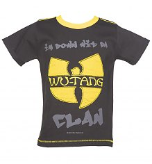 Kids Charcoal Wu-Tang Clan Logo T-Shirt from Amplified Kids [View details]