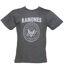 Kids Dark Grey Marl Classic Ramones Logo T-Shirt from Amplified Kids [View details]
