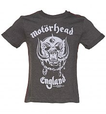 Kids Dark Grey Marl Motorhead England T-Shirt from Amplified Kids [View details]