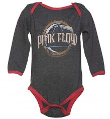 Kids Dark Grey Marl Pink Floyd On The Run Babygrow from Amplified Kids [View details]