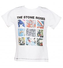 Kids White Stone Roses Album Covers T-Shirt from Amplified Kids [View details]