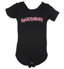 Kids Black Iron Maiden Logo Babygrow [View details]