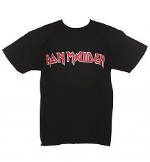 Kids Black Iron Maiden Logo T-Shirt [View details]