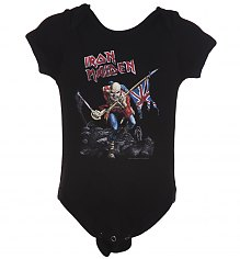Kids Black Iron Maiden Trooper Babygrow [View details]