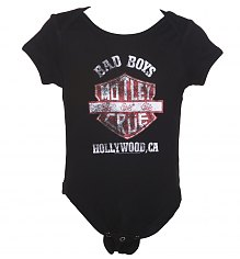 Kids Black Motley Crue Bad Boys Shield Babygrow [View details]