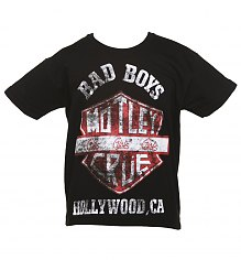 Kids Black Motley Crue Bad Boys Shield T-Shirt [View details]